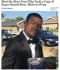 me_irl: Meet the Hero Teen Who Took a Copy of  Super Smash Bros. Melee to Prom  June 6, 2016  By Brian Feldman  2:08 p.m. me_irl