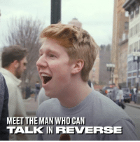Dank, 🤖, and Who: MEET THE MAN WHO CAN  TALKIN REVERRSE This guy shows off some incredible backwards speaking skills. This is seriously impressive! 👏