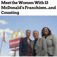 "repost (@moorinformation) ""All sorts of images that come to mind when you hear the words ""Compton, California""— ""legacy"" not being one of them. But, for Patricia Williams, Compton and the McDonald's franchise has enabled her to build an empire of 13 locations across Los Angeles, employing over 700 people in the community. Not to mention, it's also allowed Williams to work alongside her daughters, Nicole Enearu and Kerri Harper-Howie, who are already in position to carry on her legacy."" moorinfo: Meet the Women With  McDonald's Franchises...and  Counting  13  icDonal  DRIVE-THRU repost (@moorinformation) ""All sorts of images that come to mind when you hear the words ""Compton, California""— ""legacy"" not being one of them. But, for Patricia Williams, Compton and the McDonald's franchise has enabled her to build an empire of 13 locations across Los Angeles, employing over 700 people in the community. Not to mention, it's also allowed Williams to work alongside her daughters, Nicole Enearu and Kerri Harper-Howie, who are already in position to carry on her legacy."" moorinfo"
