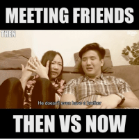 Has cool technology like this <link in bio> really changed our friendships over time??? Or have our friends always been this annoying? 😂😂 sp: MEETING FRIENDS  UHEN  He doesnt even have a brothen  THEN VS NOW Has cool technology like this <link in bio> really changed our friendships over time??? Or have our friends always been this annoying? 😂😂 sp
