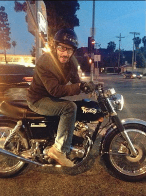 Traffic, Keanu Reeves, and Light: Meeting Keanu Reeves at a traffic light.