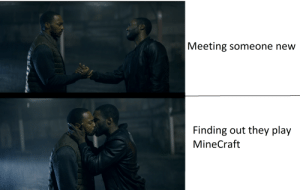 Memes, Minecraft, and Black: Meeting someone new  Finding out they play  MineCraft [SPOIELRS] Black mirror memes?!