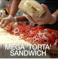America, Food, and Memes: MEGA TORTA  SANDWICH 27 JUL: Dozens of chefs came together in Mexico City to prepare a record breaking 'torta' sandwich. Over 60 ingredients were used to create this popular Mexican snack. The finished sandwich came in at 67 metres, which set a new local record for the longest sandwich ever prepared in Latin America. TortaFair Torta TortaSandwich Sandwich Food Record MexicanSnack VenustianoCarranza MexicoCity Mexico LatinAmerica BBCShorts BBCNews @BBCNews