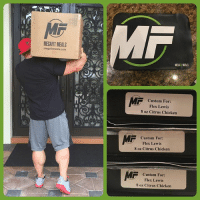 Flexing, Memes, and Chicken: MEGAFIT MEALS  megafitmeals.com  MEGAFT WEALS  Custom For:  custom For  Flex Lewis  8 oz Citrus Chicken  Custom For:  Flex Lewis  8 oz Citrus Chicken  MF  -Custom For:  Flex Lewis  8 oz Citrus Chicken I pick things up, I put them down....... ma belly! 😝 - Thanks to Billy and all the staff over @megafitmeals for making my Olympia prep easier. My custom meals are always on point, and freaking amazing, oh take advantage of all the other meals I can't have including king @jaycutler favorite quesadilla 🐷 Use code: FLEX10 for 10% your next order. MegaFitMeal flexlewis OlympiaPrep MealPrep CustomFood