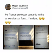 Friends, Google, and Megan: Megan Southland  @southlandmeg13  My friends professor sent this to the  whole class at 1am... I'm dying  Edit  a mail google.com c  IMPORTANT  THIS IS THE CORRECT LINK  https://www.dropbox.com/s/  IT IS FOR AN ADULT WEBSITE  ideo #2 re Interracial Marage is on class  moode page & here  TOTALLY SCREWED UP AND APOLOGIZE  BO-TIME  9pplyb6243yz9e/Loving mp  F ANY OF YOU OPENED IT BEFORE  GETTING THIS EMAIL PLEASE LET ME  KNOW  PLEASE DO NOT OPEN THE OTHE  IT IS FOR AN ADULT WEBSITE  Remember, a classmate suggested  downloading the deopbox app for a better  experience  I have not tried it  YES, IAM SCREAMING HUGE  凹00 IM SPEECHLESS
