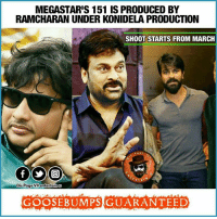 Suri-Chiru-Cherry combo! Poonakale👆😍 #Chiru151 ⚡jArvis⚡: MEGASTARIS 151 IS PRODUCED BY  RAMCHARAN UNDER KONIDELA PRODUCTION  SHOOT STARTS FROM MARCH  PAGE  RTA  Dis Page entertain U  GOOSE BUMPS GUARANTEED Suri-Chiru-Cherry combo! Poonakale👆😍 #Chiru151 ⚡jArvis⚡