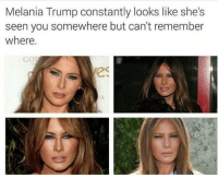 This is how bitchface is properly done. (Tw: @krazyfrog): Melania Trump constantly looks like she's  seen you somewhere but can't remember  where.  GO  es This is how bitchface is properly done. (Tw: @krazyfrog)