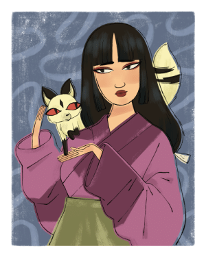 melanieatwater: sango and kilala for the rumiko takahashi show at qpop this saturday! i hadn't read or watched inuyasha in a looong time, so i did some catching up while i worked on this piece :) swing by little tokyo this weekend if you're around!! : melanieatwater: sango and kilala for the rumiko takahashi show at qpop this saturday! i hadn't read or watched inuyasha in a looong time, so i did some catching up while i worked on this piece :) swing by little tokyo this weekend if you're around!!