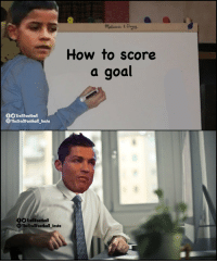 Dad, Goals, and Memes: Melassa t Doua  How to score  a goal  f TrollFootball  eTheTrollFootbal insta  DO TrollFootball  The TrollFootball Insta Tables have turned, son is now teaching the dad.  Cristiano for Juventus: 3 games, 0 goals Cristiano Jr. for Juventus: 1 game, 4 goals https://t.co/ClfOo3ZHv9