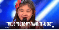 """RT @AGT: Could @angelicahale be any cuter? #AGT https://t.co/fyHYIs5g2E: """"MELB YOURE MY FAVORITE JUDGE""""  RT @AGT: Could @angelicahale be any cuter? #AGT https://t.co/fyHYIs5g2E"""