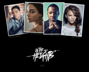 Memes, Soon..., and Summer: MELISSA BARRERA  COREY HAWKINS  ANTHONY RAMOS  LESLIE GRACE  2020 *taps 🎙* And now, I'm thrilled to announce some of the cast of our In The Heights film... @ARamosofficial IS Usnavi @MelissaBarreraM IS Vanessa #CoreyHawkins IS Benny  @lesliegrace IS Nina Rosario  We film this summer. Uptown. Right here In The Heights.  ...More soon! https://t.co/xTfzjydC9n
