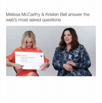 Emoji, Memes, and 🤖: Melissa McCarthy & Kristen Bell answer the  web's most asked questions Your first emoji is your reaction😂