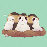 meloteaart:  Day 3: I saw the new Star Wars film recently and the Porgs are so cute!: meloteaart:  Day 3: I saw the new Star Wars film recently and the Porgs are so cute!
