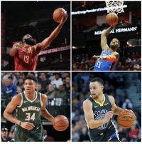 Watch, Ppg, and Curry: MEM AL HERMANN  34 MVP watch  Harden: 36.6 PPG, 7.8 APG, 6.7 RPG  PG: 28.3 PPG, 4.0 APG, 7.9 RPG  Giannis: 27.0 PPG, 5.8 APG, 12.5 RPG  Curry: 28.7 PPG, 5.4 APG, 5.1 RPG