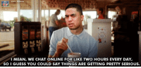 Napoleon Dynamite, Nfl, and Things Are Getting Pretty Serious: MEM  i MEAN, WE CHAT ONLINE FOR LIKE rwo HOURS EVERY DAY,  SOIGUESS YOU COULD SAY THINGS ARE GETTING PRETTY SERIOUS. Manti Te'o makes a guest appearance in Napoleon Dynamite! Credit: Justin White