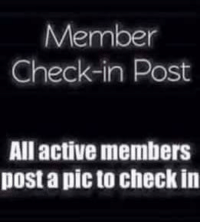 ~ Ziva: Member  Check-in Post  All active members  post a picto check in ~ Ziva