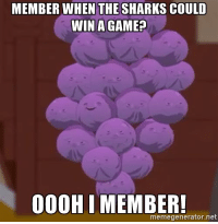And the losing streak goes up to 6 games.: MEMBER WHEN THE SHARKS COULD  WIN A GAME?  OOOH I MEMBER!  memegenerator net And the losing streak goes up to 6 games.