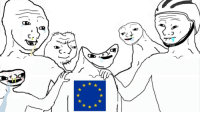 Members of the european parliament celebrate the successfull pass of article 13. (2018): Members of the european parliament celebrate the successfull pass of article 13. (2018)