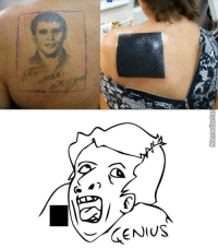 Memes, Tattoos, and Covers: Meme Center Tattoo cover-up. You're doing it wrong.