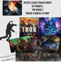 "Memes, 🤖, and Villains: MEME GUY 89  @everything but dc  JUSTICE LEAGUE TRAILER DROPS  DC FANBOYS,  ""RIP MARVEL""  ""WHERE'S MARVEL AT NOW""  THOR  NEW PLANET  NEW VILLAIN  NEW  LOOK Recognize! Collaboration with @memeguy89 👈🙌 nerd geek marvel avengers ironman captainamerica spiderman thor hulk mcu disney doctorstrange guardiansofthegalaxy dc batman superman justiceleague wonderwoman flash aquaman dceu guardiansofthegalaxy groot blackpanther"