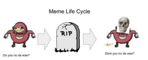 It's spooky time!: Meme Life Cycle  RIP  Doot you no da wae?  Do you no da wae? It's spooky time!