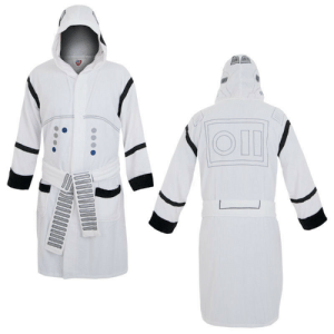 meme-mage:    Star Wars Storm trooper Hooded Robe     Star Wars Storm trooper Hooded Robe. You can be a Storm trooper even when you're relaxing when you wear this Star Wars robe that mimics these cinematic soldiers' uniforms. The Star Wars Stormtrooper Hooded Robe is white with the black and gray patterns of the Stormtrooper's armor. This Storm trooper robe is made of cotton terry cloth with satin panels for ultimate comfort!   : meme-mage:    Star Wars Storm trooper Hooded Robe     Star Wars Storm trooper Hooded Robe. You can be a Storm trooper even when you're relaxing when you wear this Star Wars robe that mimics these cinematic soldiers' uniforms. The Star Wars Stormtrooper Hooded Robe is white with the black and gray patterns of the Stormtrooper's armor. This Storm trooper robe is made of cotton terry cloth with satin panels for ultimate comfort!