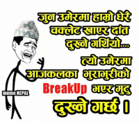 Meme, Memes, and Nepal: meme NEPAL  BreakUp के भन्ने र खै ??