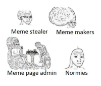 Page, Pages, and Meme Page: Meme stealer  Meme makers  Meme page admin  Normies