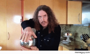 Weird Al performs a magic trick - Meme Guy: memeguy.com Weird Al performs a magic trick - Meme Guy