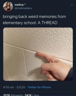 memehumor:  Twitter Thread About Elementary School Brings Back Memories: memehumor:  Twitter Thread About Elementary School Brings Back Memories
