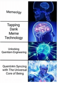 Dank, Meme, and Technology: Memeolgy  Tapping  Dank  Meme  Technology  Unlocking  Quentiam Engineering  Quentiam Syncing  with The Universal  Core of Being