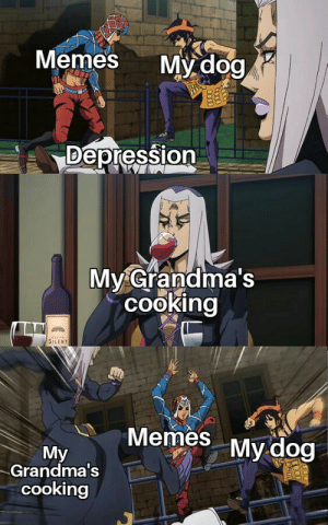 awesomacious:  Me:I am on a diet, Grandma. Please make less food for me. Grandma:*Makes enough food to feed 5 Snorlax*: Memes My dog  Depression  My Grandma's  cooking  SILENT  Memes My dog  My  Grandma s  cooking awesomacious:  Me:I am on a diet, Grandma. Please make less food for me. Grandma:*Makes enough food to feed 5 Snorlax*