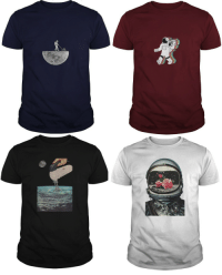 Tumblr, Blog, and Earth: memesonpointstuff: Space Related T-shirts // Worldwide shipping //   1.Moon mower    2.Astronaut with boombox   3.Earth mixer        4.Astronaut roses    More styles available!