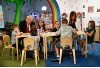 President @realDonaldTrump and @FLOTUS Melania Trump talked with a group of children during a visit the Nationwide Children's Hospital​ in Columbus, Ohio.: Memmy  ASSOOATED PRESS President @realDonaldTrump and @FLOTUS Melania Trump talked with a group of children during a visit the Nationwide Children's Hospital​ in Columbus, Ohio.