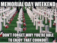 Dank, 🤖, and Weekend: MEMORIALDAY WEEKEND  DONT FORGET,WHY YOU'RE ABLE  TO ENJOY THAT COOKOUT #jussayin