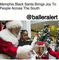 "A Dream, America, and Beautiful: Memphis  Black Santa Brings Joy To  Across The South  People  @balleralert Memphis Black Santa Brings Joy To People Across The South - Blogged by @tktrinidad ⠀⠀⠀⠀⠀⠀⠀⠀ ⠀⠀⠀⠀⠀⠀⠀⠀ Raymond Conley, 65, has been the resident black Santa for the past eight years at Southland Mall and people have been traveling to Memphis to see him. ""Not to be funny, but they want to see a black Santa. They come from Texas, St. Louis, Atlanta. They want their kids to see a black Santa,"" Conley said. ⠀⠀⠀⠀⠀⠀⠀⠀ ⠀⠀⠀⠀⠀⠀⠀⠀ About 63% of the Memphis' population is black, according to the U.S. Census and it's pretty cool to see a Santa that is relatable to the population. The general manager Michael Rixter, of the Southland Mall, agrees, ""we have at least 10 calls a day from people asking if we have Santa here.The second question they ask is, 'Is he black?"" ⠀⠀⠀⠀⠀⠀⠀⠀ ⠀⠀⠀⠀⠀⠀⠀⠀ There has been black Santa's across America since the 1940's. The Mall of America in Bloomington, Minn got its first black Santa in 2016 for four days, which expanded to nine days this year. ⠀⠀⠀⠀⠀⠀⠀⠀ ⠀⠀⠀⠀⠀⠀⠀⠀ Believe it or not, before Conley donned on the Santa suit, Rev. Larry Lee Love Sr., 66 was the first black Santa in 1997, ""Me and my wife were mall walkers. And they were putting up decorations, and advertising Santa, and we kept passing that big, beautiful red-and-white Santa chair with that white Santa, and every time we passed it, seemed like something would come over me."" Love said. Back then, Love just worked for the mall, but these days everything is a business including being Santa. Conley works for Cherry Hill Photo Enterprises Inc which puts together the whole Santa experience. The company makes profits off of photo packages and sends Conley two spanking new suits every week. Conley is the only black Santa on their roster, local manager for Cherry Hill, Lyntia Howard, says,"" We have a lot of people who come looking for him."" ⠀⠀⠀⠀⠀⠀⠀⠀ ⠀⠀⠀⠀⠀⠀⠀⠀ Conley and Love hope to continue being Santa for a very long time and Love has a dream on top of bringing joy to kids,""My only aspiration right now is to be the first black Santa to go to Washington, D.C., and light that 50-foot tall Alberta spruce tree( the National Tree by the White House)"" he said."