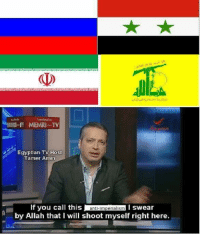 MEMRI-TV  Egyptian TV Host  Tamer Amin  If you call this  anti-imperialism  I swear  by Allah that I will shoot myself right here. Things that are anti-imperialist:  Anti-imperialists  Things that are anti-West (not anti-imperialism):  Russian authoritarianism Syrian Ba'athism Iranian theocracy Militant Shia groups Chinese Maoism