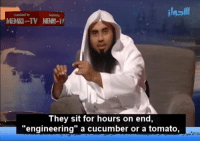 """Memri Tv: MEMRI TV NENII  They sit for hours on end,  engineering"""" a cucumber or a tomato"""
