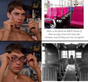 They are the same picture by raton22 MORE MEMES: Men to be fined on BMTC buses if  they occupy reserved seats for  women, even if they are not occupied  OLORED  PASSENGERS  COL  PASSE They are the same picture by raton22 MORE MEMES