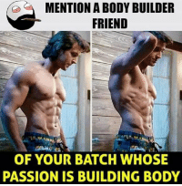 Be Like, Meme, and Memes: MENTION A BODY BUILDER  FRIEND  OF YOUR BATCH WHOSE  PASSION IS BUILDING BODY Twitter: BLB247 Snapchat : BELIKEBRO.COM belikebro sarcasm meme Follow @be.like.bro