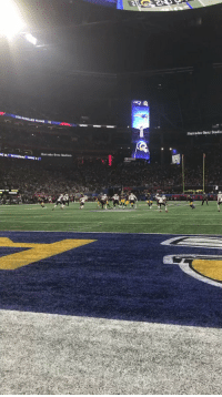 Memes, Mercedes, and Cbs: Mercedes-Benz Stadiu  Mercedes-Benz Stadium Our SIDELINE CAM brings you another angle of the @BumpNrunGilm0re INT!  📺: #SBLIII on CBS https://t.co/mlu0xy22PJ