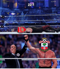 Southampton end Arsenal's 22 game unbeaten streak https://t.co/FmvVK8zxAS: Mercedes-Benz  Superdome  LIVE  ::WRESTLEMANIA  Ochsner 22-1  BUD  S2  verizon-  Mer  Ochsner Southampton end Arsenal's 22 game unbeaten streak https://t.co/FmvVK8zxAS
