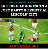 Merece unos 30 partidos de sanción joey barton lincoln fa: MERECE SANCION DE POR VIDA?  LA TERRIBLE AGRESION A  JOEY BARTON FRENTE AL  LINCOLN CITY  THE FA CUP STEROKUND  LIVI  BURNLEY  o-o LINCOLN  65:25  LINK EN LA BIO Merece unos 30 partidos de sanción joey barton lincoln fa