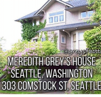 MEREDITH GREYS HOUSE  SEATTLE WASHINGTON  303 COMSTOCK ST SEATTLE I swear one day I am going to move to Seattle and buy this house😍😍💗 @greysfactts