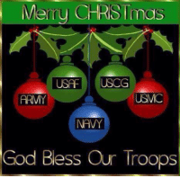Memes, Army, and Merry Christmas: Merry CHRISTmas  USA  USCG  ARMY  NAVY  God Bless Our Troops For more holiday, retro, and funny pictures go to... www.snowflakescottage.com