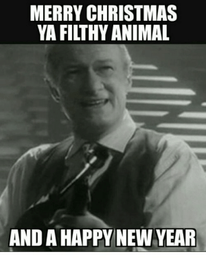 Leonardo Dicaprio Cheers Meme Imgflip Merry Christmas And Happy New ...: MERRY CHRISTMAS  YA FILTHY ANIMAL  AND A HAPPY NEW YEAR Leonardo Dicaprio Cheers Meme Imgflip Merry Christmas And Happy New ...