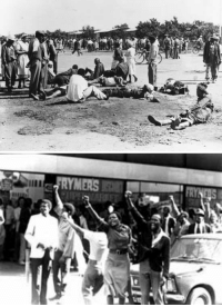 "<p><a href=""http://todayinhistory.tumblr.com/post/158676765715/march-21st-1960-sharpeville-massacre-on-this-day"" class=""tumblr_blog"">todayinhistory</a>:</p>  <blockquote><h2><b>March 21st 1960: Sharpeville massacre</b><br/></h2><p><small>On this day in 1960, police opened fire on peaceful anti-apartheid protestors in the South African township of Sharpeville, killing 69. The over 5,000 strong crowd gathered at Sharpeville police station to protest the discriminatory pass laws, which they claimed were designed to limit their movement in designated white only areas. The laws required all black men and women to carry reference books with their name, tax code and employer details; those found without their book could be arrested and detained. The protest encouraged black South Africans to deliberately leave their pass books at home and present themselves at police stations for arrest, which would crowd prisons and lead to a labour shortage. Despite the protestors' peaceful and non-violent intentions, police opened fire on the crowd. By the day's end, 69 people were dead and 180 were wounded. A further 77 were arrested and questioned, though no police officer involved in the massacre was ever convicted as the government relieved all officials of any responsibility. The apartheid government responded to the massacre by banning public meetings, outlawing the African National Congress (ANC) and declaring a state of emergency. The incident convinced anti-apartheid leader and ANC member Nelson Mandela to abandon non-violence and organise paramilitary groups to fight the racist system of apartheid. In 1996, 36 years later, then President Mandela chose Sharpeville as the site at which he signed into law the country's new post-apartheid constitution.</small></p><blockquote><p> <b><i>""People were running in all directions, some couldn't believe that people  had been shot, they thought they had heard firecrackers. Only when they  saw the blood and dead people, did they see that the police meant  business""</i></b><br/><small>- Tom Petrus, eyewitness to the Sharpeville massacre</small><br/></p></blockquote></blockquote>: MERS <p><a href=""http://todayinhistory.tumblr.com/post/158676765715/march-21st-1960-sharpeville-massacre-on-this-day"" class=""tumblr_blog"">todayinhistory</a>:</p>  <blockquote><h2><b>March 21st 1960: Sharpeville massacre</b><br/></h2><p><small>On this day in 1960, police opened fire on peaceful anti-apartheid protestors in the South African township of Sharpeville, killing 69. The over 5,000 strong crowd gathered at Sharpeville police station to protest the discriminatory pass laws, which they claimed were designed to limit their movement in designated white only areas. The laws required all black men and women to carry reference books with their name, tax code and employer details; those found without their book could be arrested and detained. The protest encouraged black South Africans to deliberately leave their pass books at home and present themselves at police stations for arrest, which would crowd prisons and lead to a labour shortage. Despite the protestors' peaceful and non-violent intentions, police opened fire on the crowd. By the day's end, 69 people were dead and 180 were wounded. A further 77 were arrested and questioned, though no police officer involved in the massacre was ever convicted as the government relieved all officials of any responsibility. The apartheid government responded to the massacre by banning public meetings, outlawing the African National Congress (ANC) and declaring a state of emergency. The incident convinced anti-apartheid leader and ANC member Nelson Mandela to abandon non-violence and organise paramilitary groups to fight the racist system of apartheid. In 1996, 36 years later, then President Mandela chose Sharpeville as the site at which he signed into law the country's new post-apartheid constitution.</small></p><blockquote><p> <b><i>""People were running in all directions, some couldn't believe that people  had been shot, they thought they had heard firecrackers. Only when they  saw the blood and dead people, did they see that the police meant  business""</i></b><br/><small>- Tom Petrus, eyewitness to the Sharpeville massacre</small><br/></p></blockquote></blockquote>"