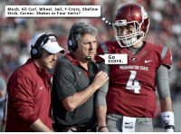 Classic Mike Leach: Mesh, All Curl, Wheel, Sail, Y-Cross, Shallow  Stick, Corner, Shakes or Four Verts?  Go  S Core  WASHINGTON STATE Classic Mike Leach