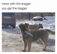 You, Dagger, and Mess: mess with the dogger  you get the dagger  K807 TY