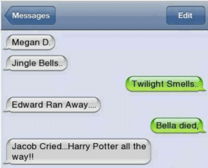 25+ Best Jingle Bells Twilight Smells Memes | All the Way